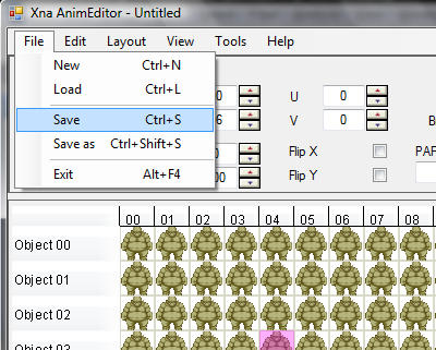 AnimEditor save cmd